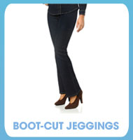 Boot-Cut Jeggings