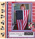Scrapbook page example, July 4th