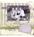 Scrapbook page example - family portraits