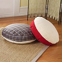 Round Lambswool Pet Bed