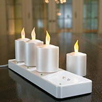 Grandin Road Rechargeable Votive Candles - Set of 4