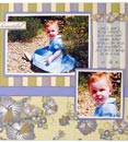 Scrapbook page example, Babies