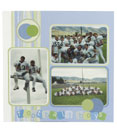 Scrapbook page example, football